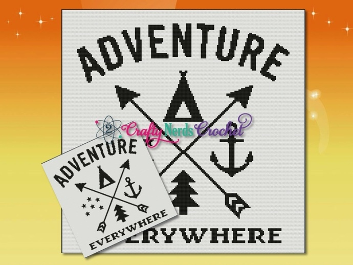 Adventure Everywhere Pattern Graph With Single Crochet Written