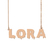 Custom Lora Name Necklace Personalized Gift for Halloween Easter Christmas