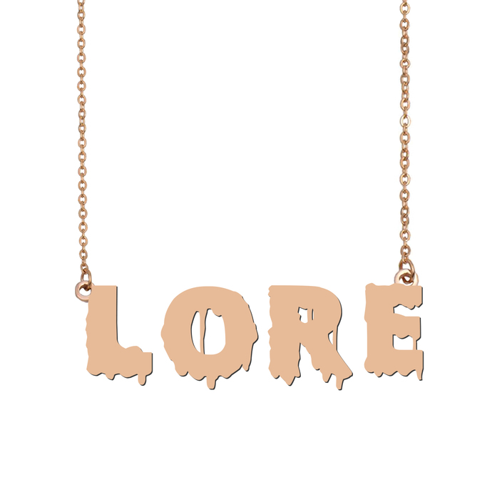 Custom Lore Name Necklace Personalized Gift for Halloween Easter Christmas