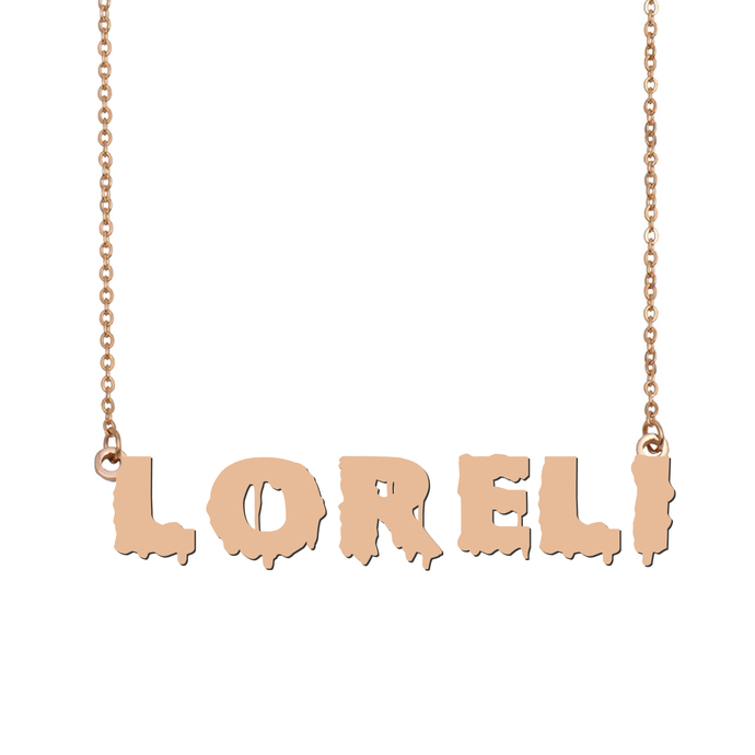 Custom Loreli Name Necklace Personalized Gift for Halloween Easter Christmas