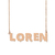 Custom Loren Name Necklace Personalized Gift for Halloween Easter Christmas