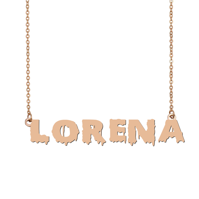 Custom Lorena Name Necklace Personalized Gift for Halloween Easter Christmas