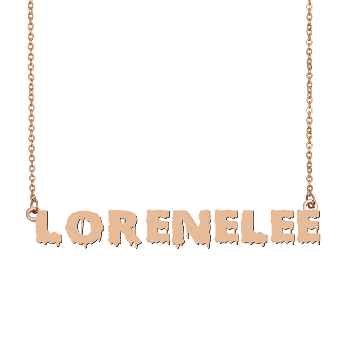 Custom LoreneLee Name Necklace Personalized Gift for Halloween Easter Christmas