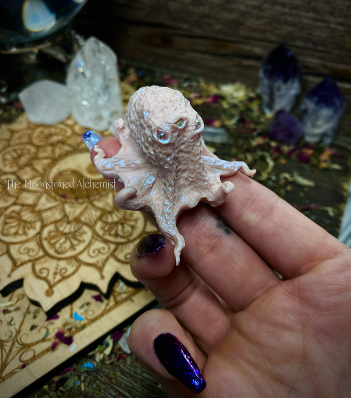 SALE Oracle Sculpted Octobabe with Angel Aura Iridescent eyes