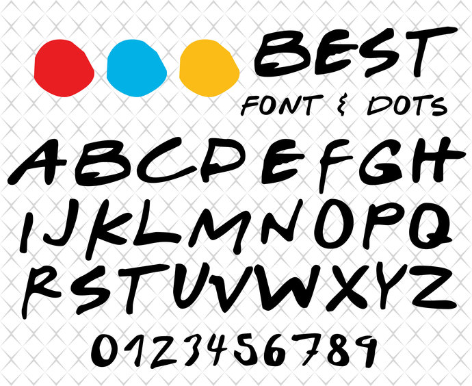 Font SVG Friends Font Svg Friends Alphabet SVG Friends SVG Instant Download Dots Svg Friends Font Svg /& Png Friends Tv Show Svg