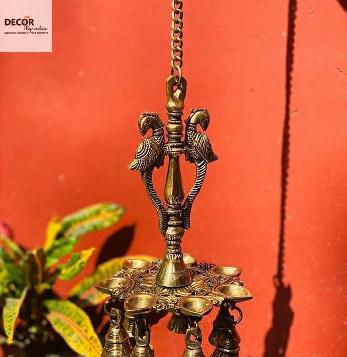 Handcrafted Brass Hanging Oil Lamp