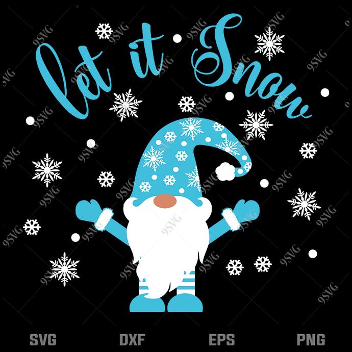 Bundledigital Let it snow svg, Gnome svg, Merry Christmas svg, Christmas svg,