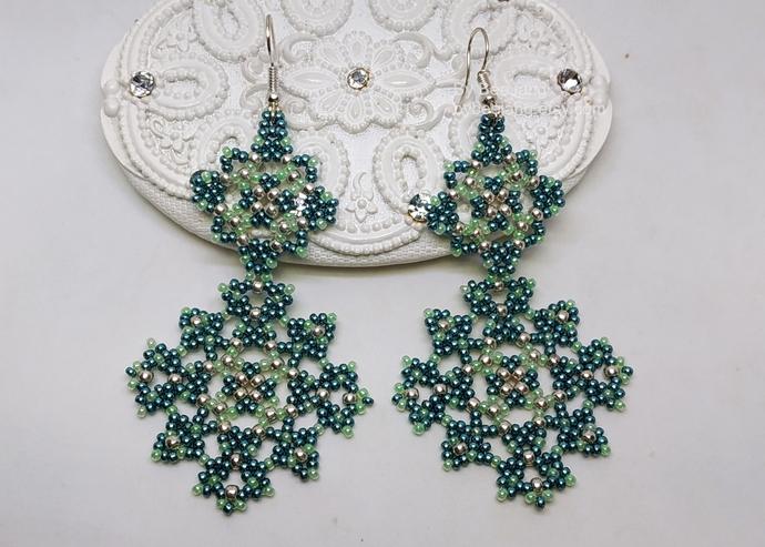 Beading Patterns, Melia Earrings, Beading Tutorials, PDF