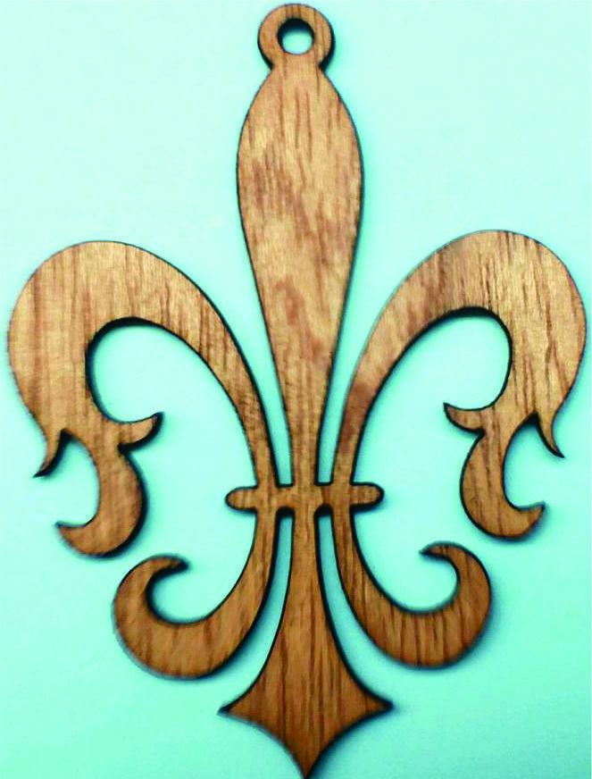 Fleur-de-lise ornament / Laser Cut Wood