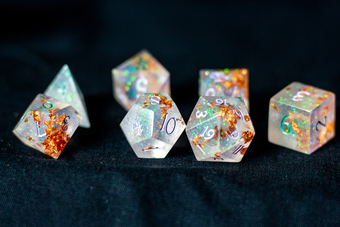 Trials of the Cleric 7 piece dice set