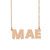 Custom Mae Name Necklace Personalized Gift for Halloween Easter Christmas