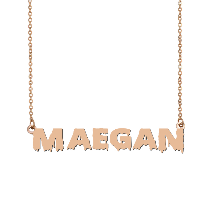 Custom Maegan Name Necklace Personalized Gift for Halloween Easter Christmas