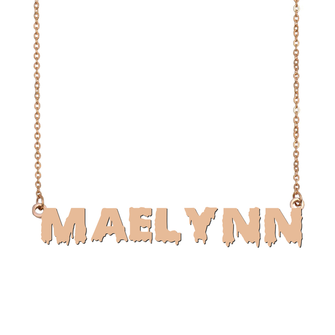 Custom Maelynn Name Necklace Personalized Gift for Halloween Easter Christmas