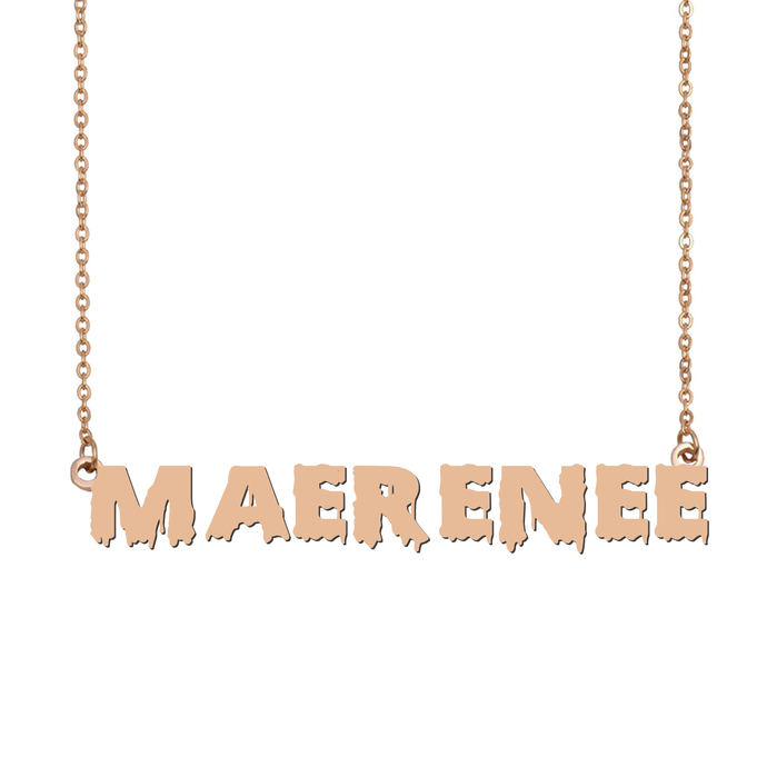 Custom MaeRenee Name Necklace Personalized Gift for Halloween Easter Christmas