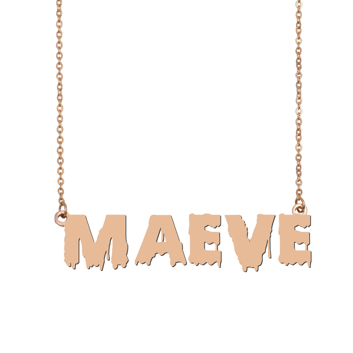 Custom Maeve Name Necklace Personalized Gift for Halloween Easter Christmas