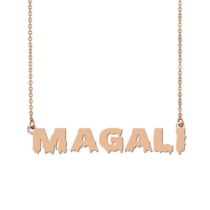 Custom Magali Name Necklace Personalized Gift for Halloween Easter Christmas