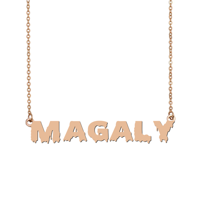 Custom Magaly Name Necklace Personalized Gift for Halloween Easter Christmas