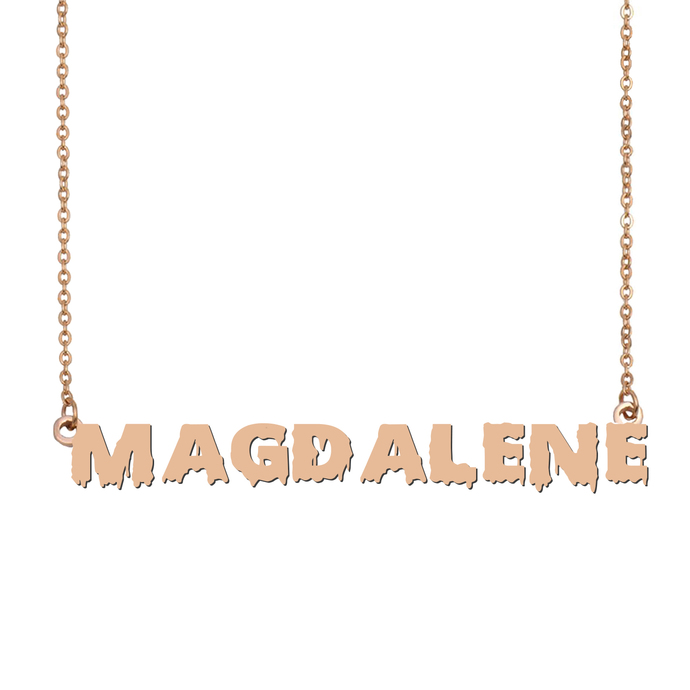 Custom Magdalene Name Necklace Personalized Gift for Halloween Easter Christmas