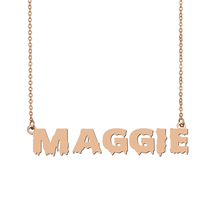 Custom Maggie Name Necklace Personalized Gift for Halloween Easter Christmas