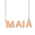 Custom Maia Name Necklace Personalized Gift for Halloween Easter Christmas