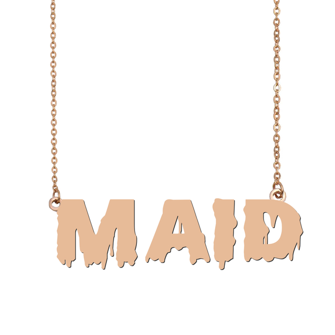 Custom Maid Name Necklace Personalized Gift for Halloween Easter Christmas