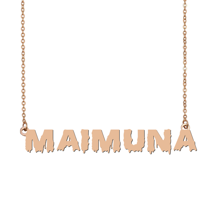 Custom Maimuna Name Necklace Personalized Gift for Halloween Easter Christmas