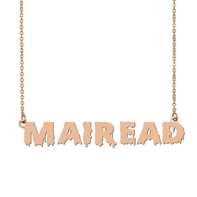 Custom Mairead Name Necklace Personalized Gift for Halloween Easter Christmas