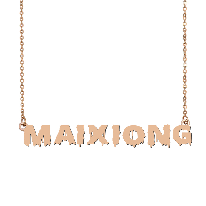 Custom Maixiong Name Necklace Personalized Gift for Halloween Easter Christmas