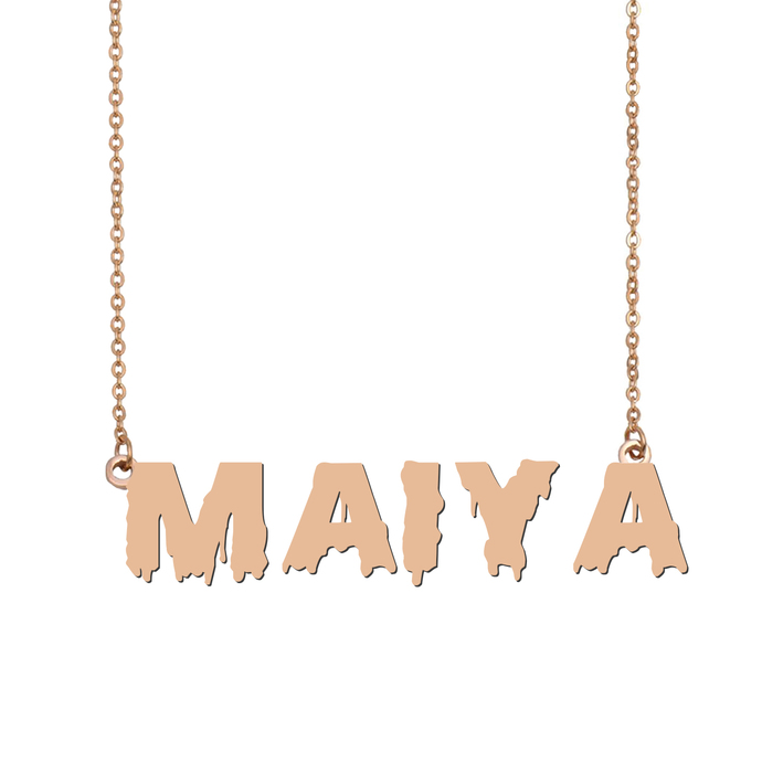 Custom Maiya Name Necklace Personalized Gift for Halloween Easter Christmas