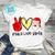 Peace Love Santa PNG, Santa Claus PNG, Merry Christmas PNG, Digital Download