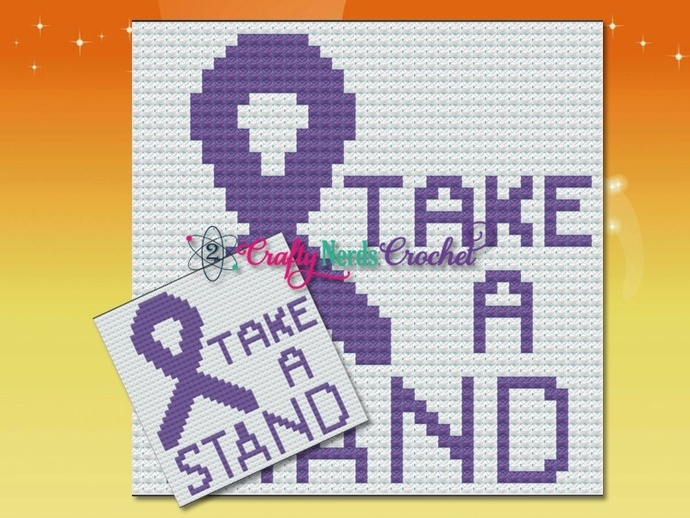 Domestic Violence Awareness Pattern Graph With Mini C2C Written