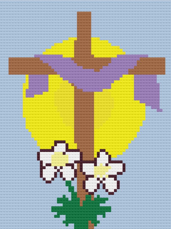 Easter C2C crochet graph