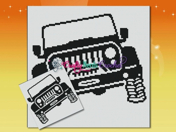 Jeep Angled Patter Graph With Mini C2C Written