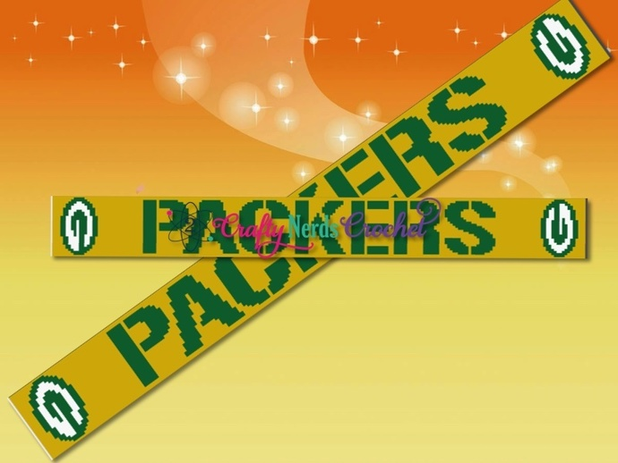 Packers Scarf Pattern Graph With HDC Written