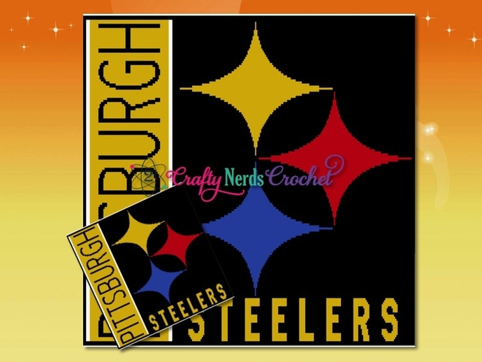 Pittsburgh Steelers Pattern Graph With Double Crochet Written