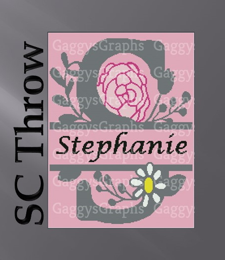 S is for Stephanie Split Monogram, Graph_written line by line color coded block