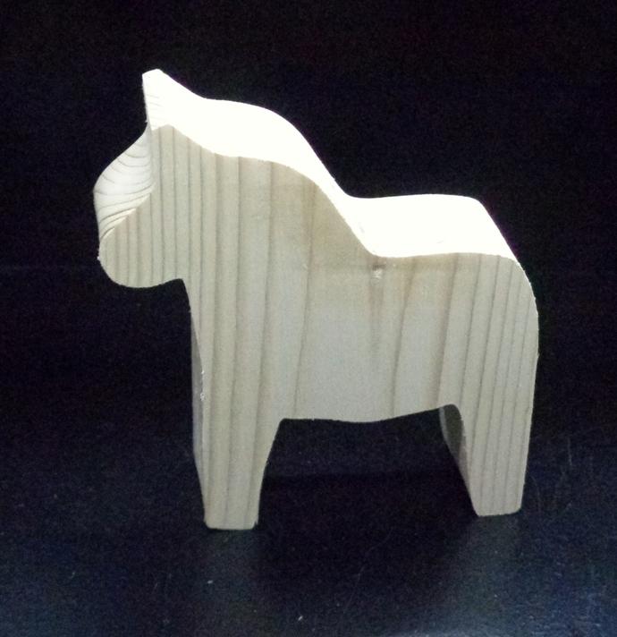 Dala Horse Cutout D-2-15 Unfinished Wood