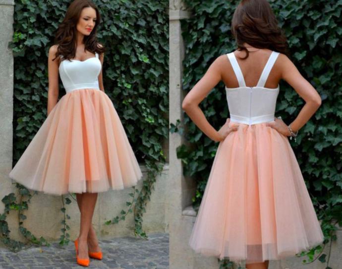 cheap graduation dresses short peach elegant prom dresses 2020 Vestido de festa