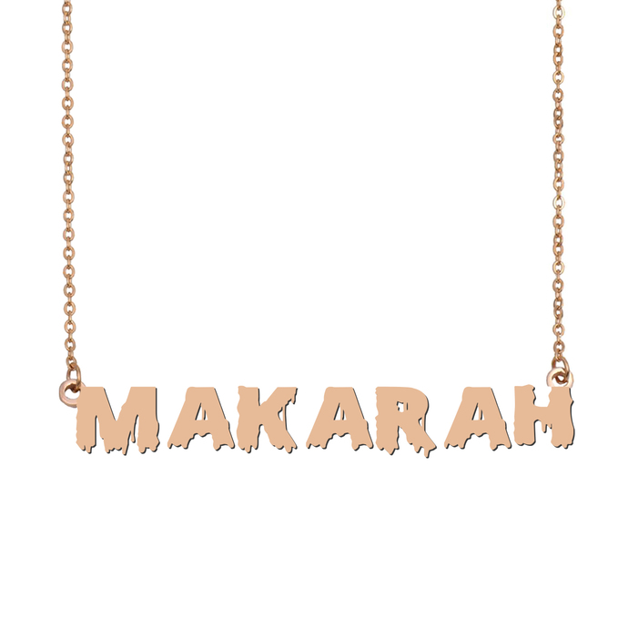 Custom Makarah Name Necklace Personalized Gift for Halloween Easter Christmas