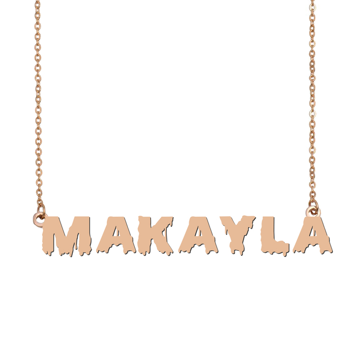 Custom Makayla Name Necklace Personalized Gift for Halloween Easter Christmas