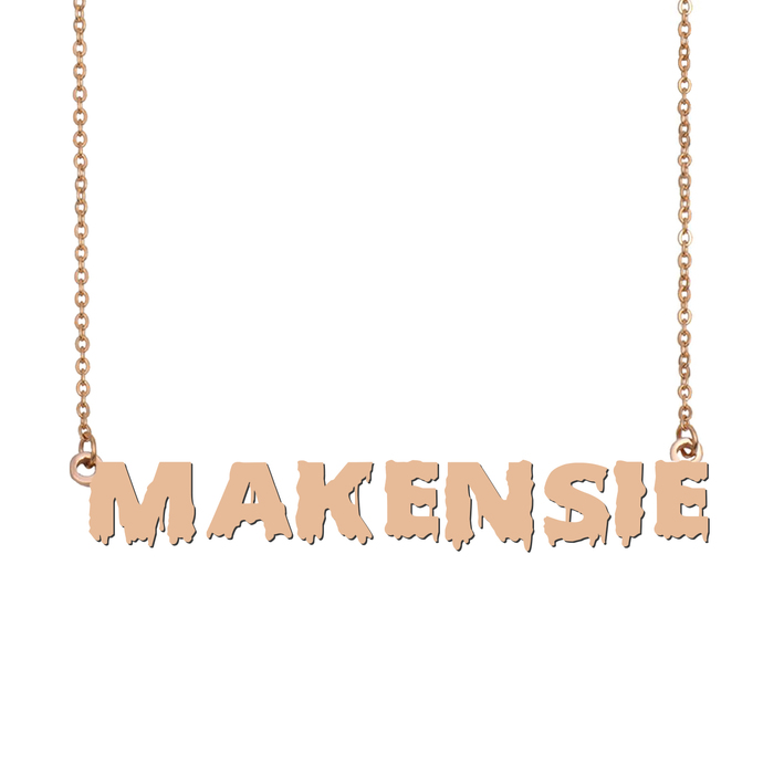 Custom Makensie Name Necklace Personalized Gift for Halloween Easter Christmas