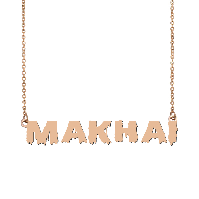 Custom Makhai Name Necklace Personalized Gift for Halloween Easter Christmas
