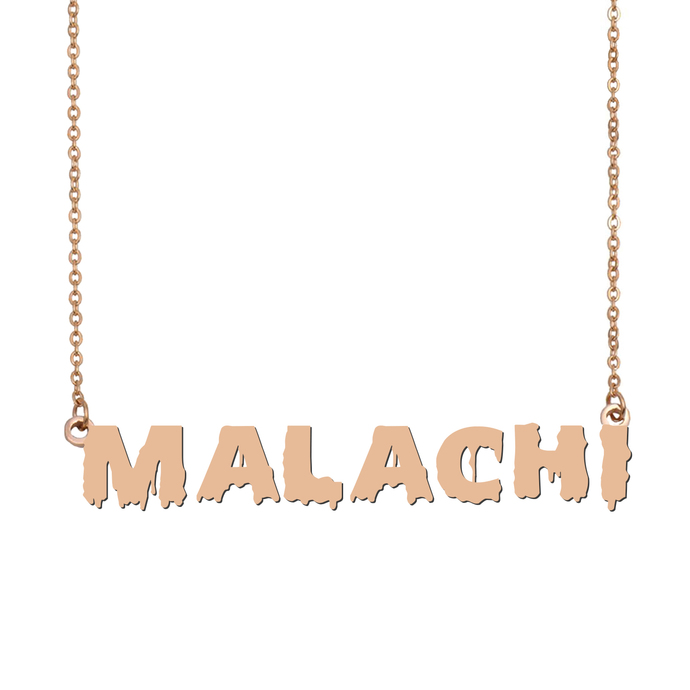 Custom Malachi Name Necklace Personalized Gift for Halloween Easter Christmas