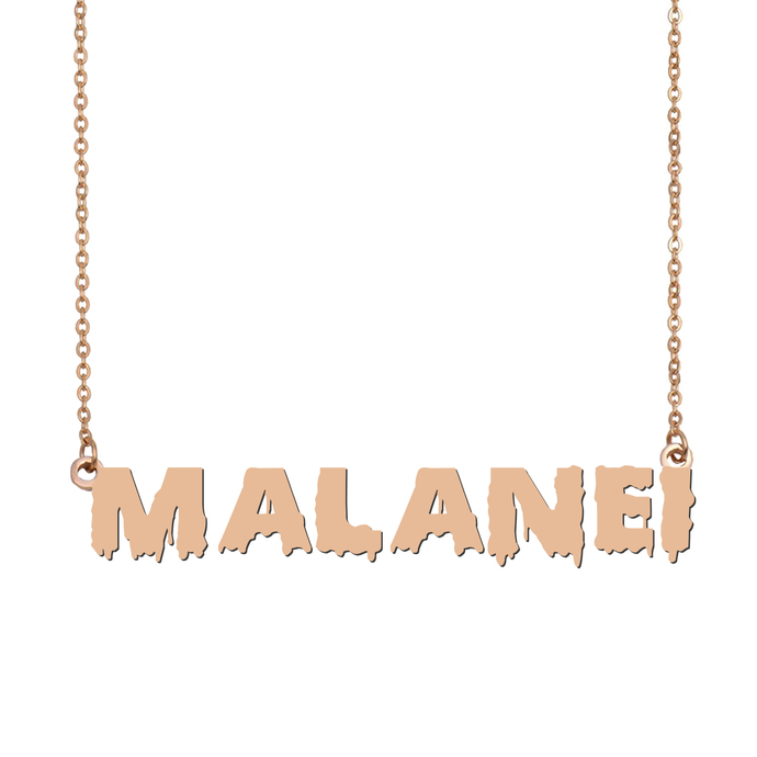 Custom Malanei Name Necklace Personalized Gift for Halloween Easter Christmas