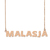 Custom Malasja Name Necklace Personalized Gift for Halloween Easter Christmas