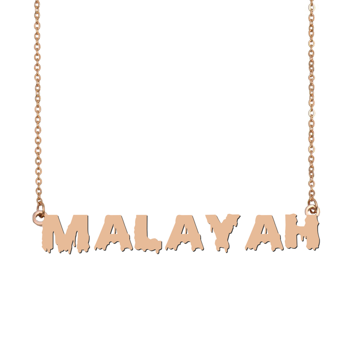 Custom Malayah Name Necklace Personalized Gift for Halloween Easter Christmas