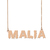 Custom Malia Name Necklace Personalized Gift for Halloween Easter Christmas