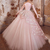 pink prom dresses ball gown Lace Applique luxury prom gown vestido de graduacion
