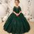 green flower girl dresses 2020 sequin applique lace elegant tulle cheap kids