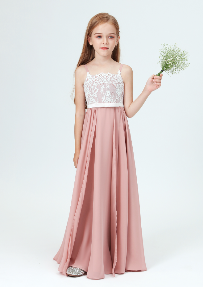 Flower Girl Dresses,Lace Little Bridesmaid Dresses For Wedding First Communion